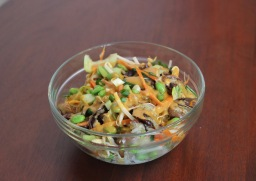 Brown Rice Bowl over Asian Vegetables
